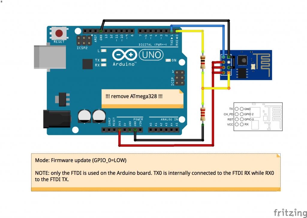 NodeMCU ESP8266 / ESP8285 Arduino #52 ESP8266 การใช้ Arduino Uno โปรแกรมแทน USB TTL