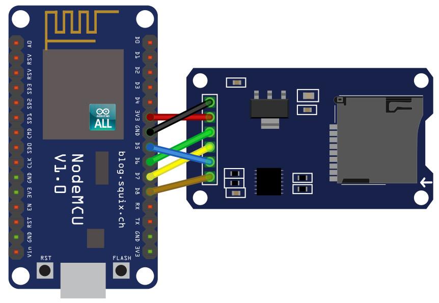 NodeMCU ESP8266 / ESP8285 Arduino #13 ESP8266 SD Card NodeMCU ใช้งาน SD Card Arduino ESP8266