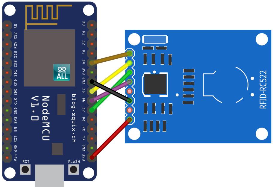 NodeMCU ESP8266 / ESP8285 Arduino #15 NodeMCU RFID ESP8266