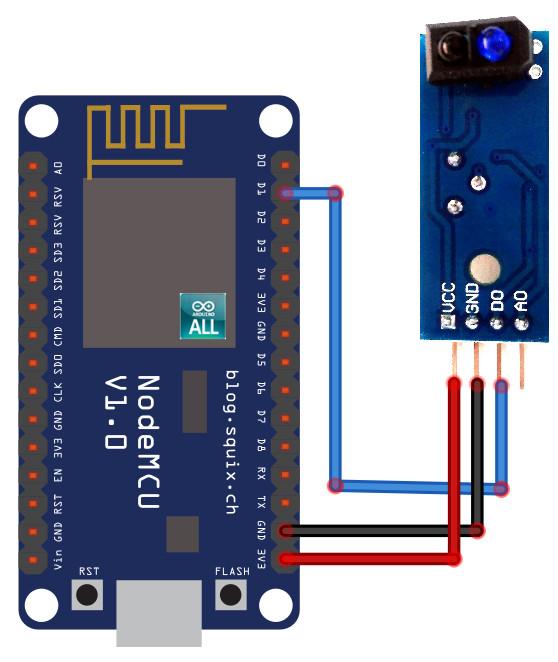NodeMCU ESP8266 / ESP8285 Arduino #5 NodeMCU ESP8266 ตรวจจับวัตถุด้วย Infrared Sensor