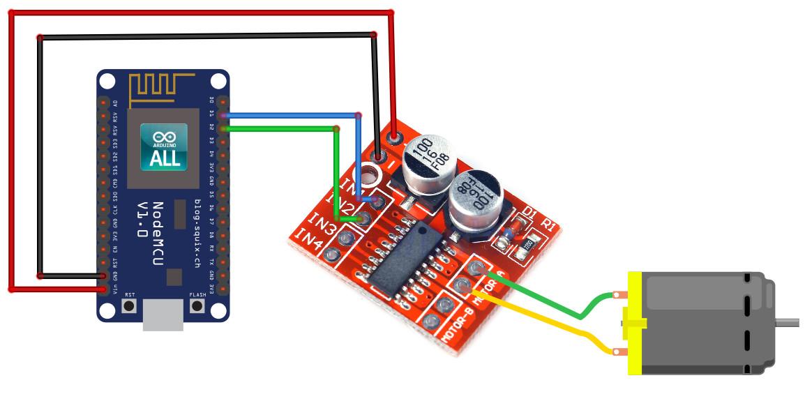 NodeMCU ESP8266 / ESP8285 Arduino #10 NodeMCU Motor ESP8266 สั่งงานมอเตอร์ด้วย NodeMCU ESP8266