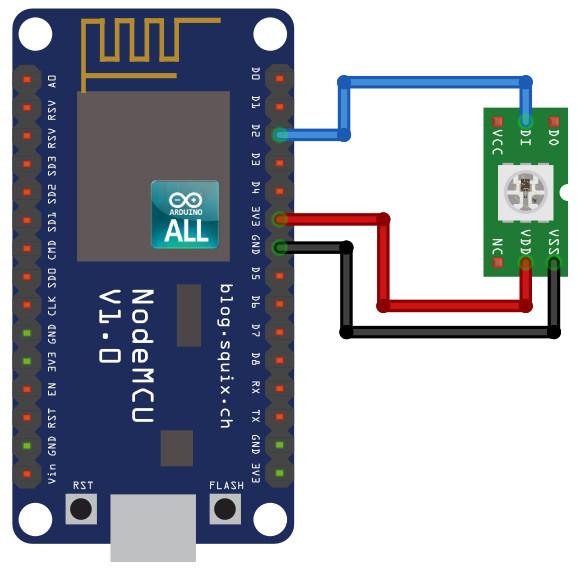NodeMCU ESP8266 / ESP8285 Arduino #20 ESP8266 WS2812b